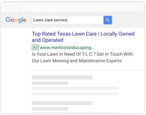 google ads for lawn care and landscaping
