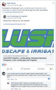Lush Irrigation Testimonial