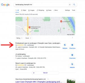 Rank landscaping website on Google