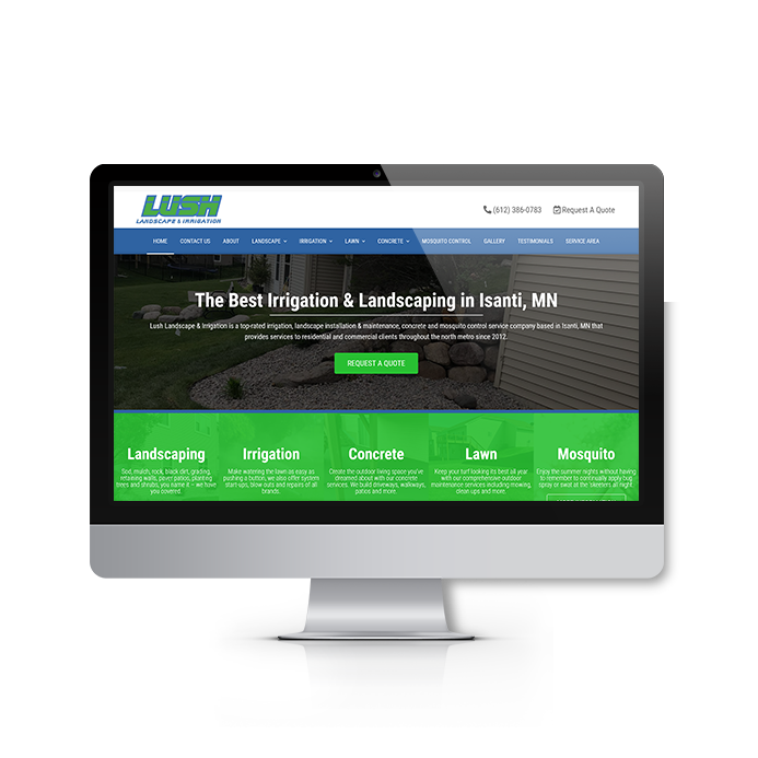 Lush Landscape & Irrigation Website