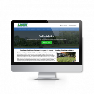 Sod installation service page